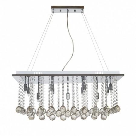 Pendente de Cristal Transparente com 11 lâmpadas de led G-09 Parati -Sigma