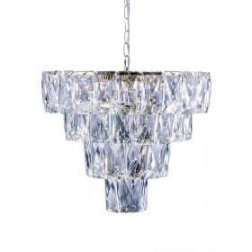 Lustre de Cristal Cromado 9 Lâmpadas LED Fasano