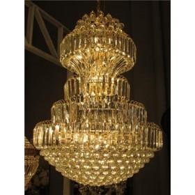 Lustre Imperial de Cristal Dourado com Cromo 20 Lâmpadas - Frontier