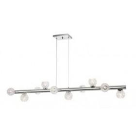 Pendente Moderno Cúpula de Cristal Transparente Estrutura Cromo 10 Lâmpadas - Old Artisan