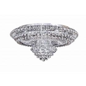 Plafon Redondo de Cristal Transparente KO 19 Lampadas