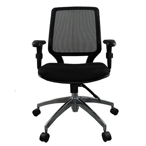 Cadeira Diretor Base Giratória Alumínio Tela Mesh Staff - Desingchair