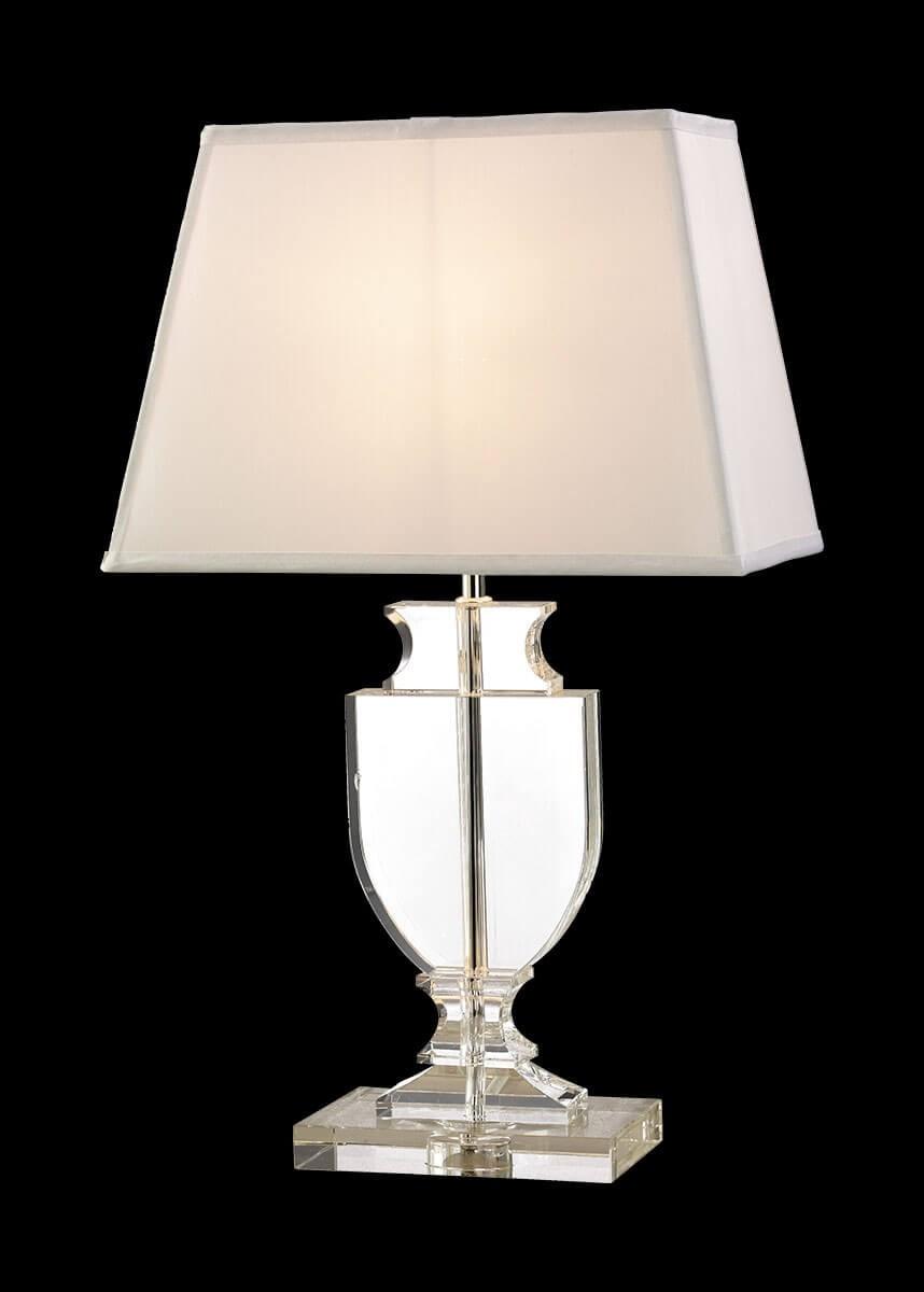 Abajour de Cristal Algodão Transparente Branco 1 lâmpada Carlota - Mantra