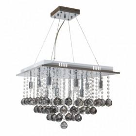 Pendente de Cristal Fumê com 12 lâmpadas de led G-09 Parati -Sigma