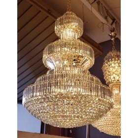 Lustre Imperial de Cristal Transparente e Estrutura Cromada 40 Lâmpadas - Frontier