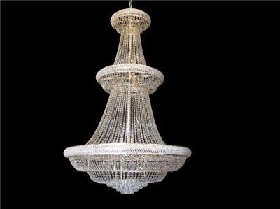 Lustre de Cristal Transparente Modelo Imperial 50 Lâmpadas - Frontier