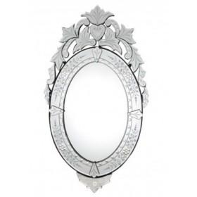 Espelho Veneziano Trabalhado sem Moldura Oval 2961
