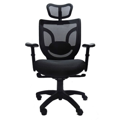 Cadeira Presidente Ergonômica Base Giratória Nylon Tela Mesh Boss Design- Desingchair