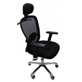 Cadeira Presidente Desingchair Ergon Humann Tela Mesh Giratoria Preta