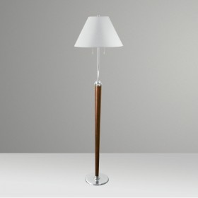 Luminária de Chão Julia Estilo Clássico 2 Lâmpadas Goldenart