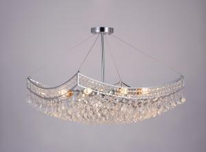 Pendente de Cristal Quadrado Transparente 8 Lâmpadas FL