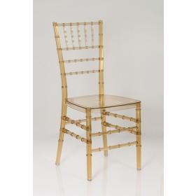 Cadeira Cristal Tiffany Sem Almofada Âmbar