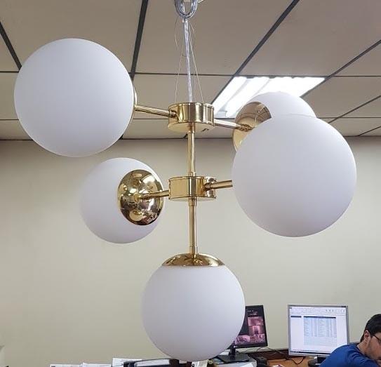 Lustre Balls 4 Lâmpadas-Goldenart