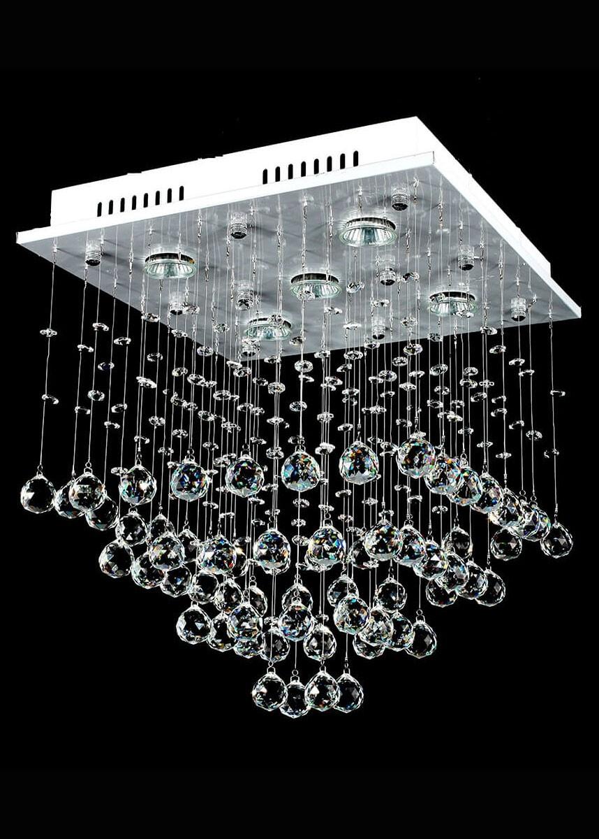 Plafon de Cristal 5 Lâmpadas OR