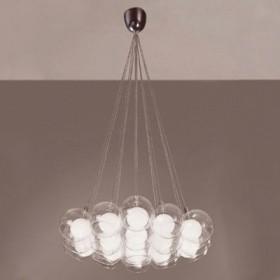 Pendente Balls Com Cúpulas de Vidro 19 lampadas - Bella