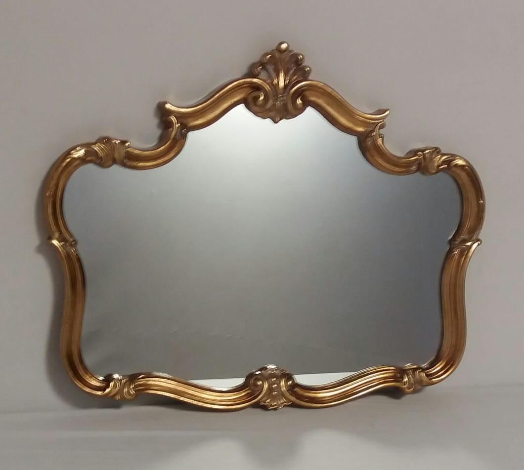 Espelho Pentagono em Detalhes Dourado - Frontier