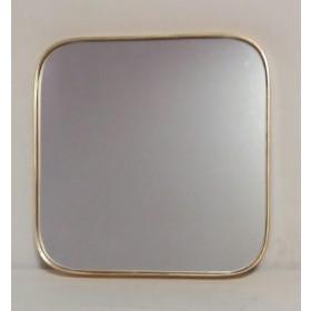 Espelho Quadrado com bordas Douradas - Frontier