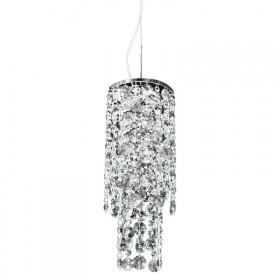 Pendente Fancy Cristal Transparente Metal Cromado 1 Lâmpada - Pier
