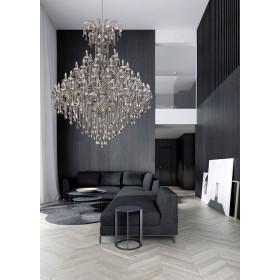 Lustre de Cristal Metal Cromado Transparente 60 lâmpadas Astennu - Mantra