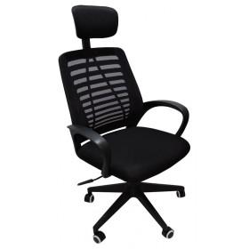 Cadeira Presidente Bali Designchair Tela Mesh Preta