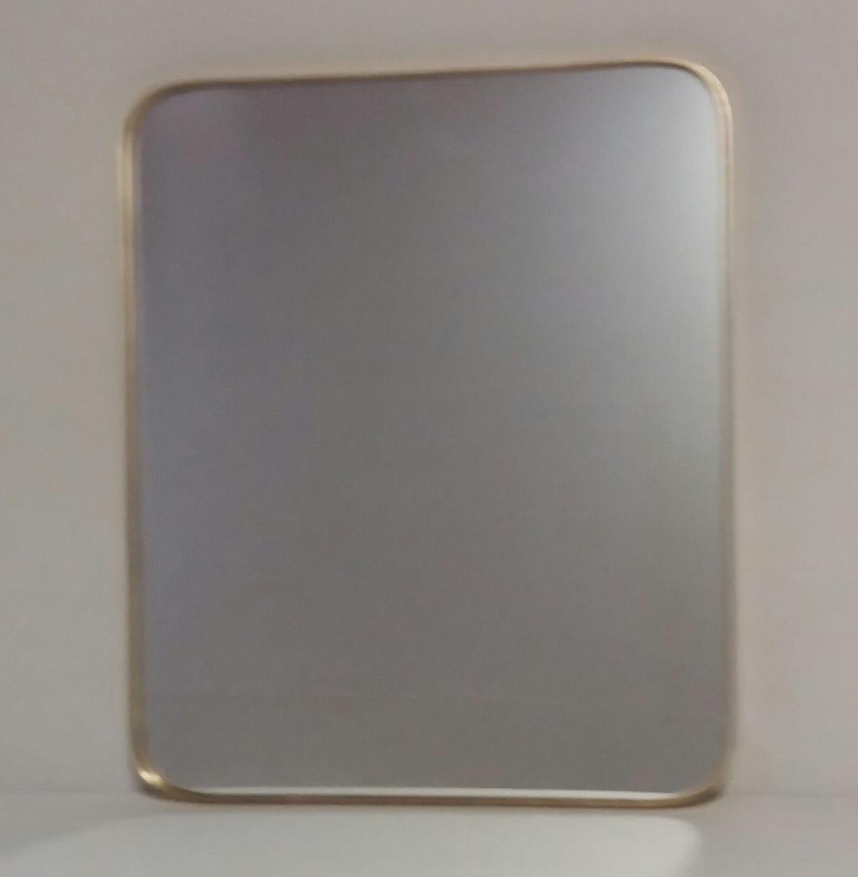 Espelho Retangular com bordas Douradas - frontier