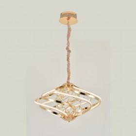 Pendente Dourado Acrilico Aluminio Led 3500k 43w - Sindora