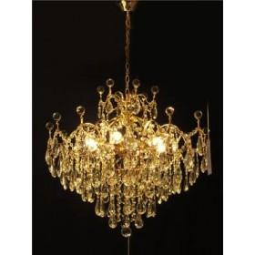 Lustre Clássico Dourado com Cristal 6 Lâmpadas - Frontier