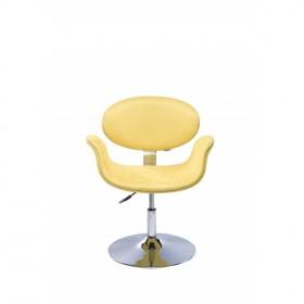 Poltrona Decorativa Designchair Tulipa Base Disco Amarela