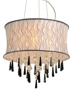 Lustre de Cristal 3 lâmpadas Amarilis