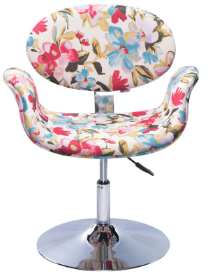 Poltrona Decorativa Designchair Tulipa Base Disco Floral