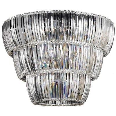 Plafon Cristal Brially Metal Cromado 10 Lâmpadas - Pier