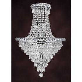 Lustre Imperial de Cristal Transparente 8 Lâmpadas Donatela Home Design Pier