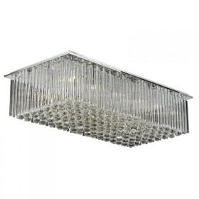 Plafon Majistic Cristal Transparente Metal Cromado 18 Lâmpadas - Pier