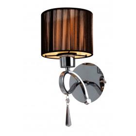 Arandela de cristal 1 lâmpada cúpula marrom VZ