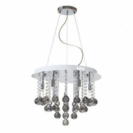 Pendente de Cristal Fumê com 9 lâmpadas de led G-09 Parati -Sigma