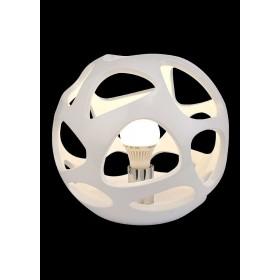 Luminária de Mesa de Polímero Metal 0Cromado Branco 1 lâmpada Organica - Mantra