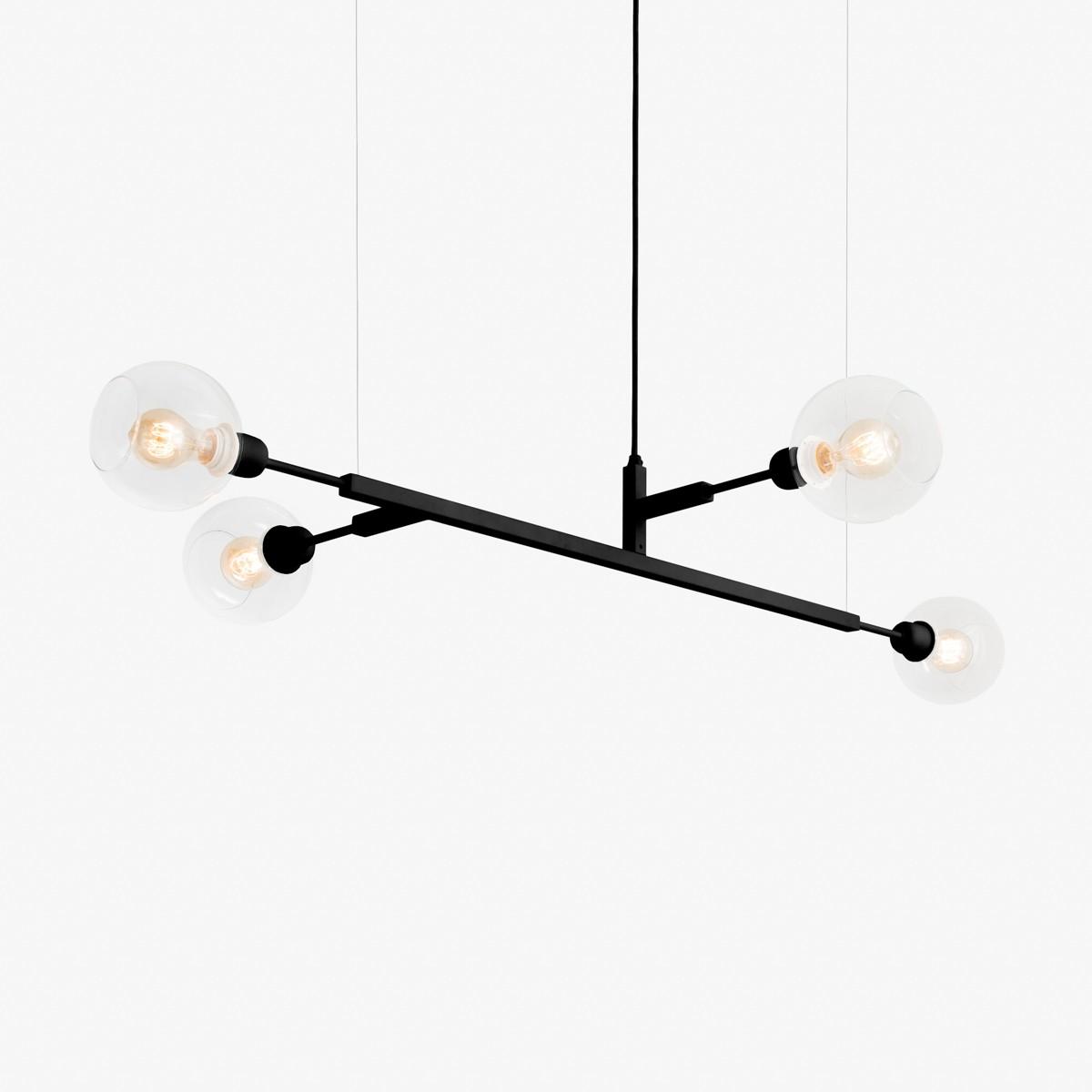 Lustre Quattro 100 - Lamp 4 Lâmpadas-Goldenart