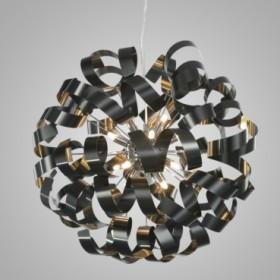 Pendente de Aço Preto Fosco 12 Lâmpadas +Luz Iluminação
