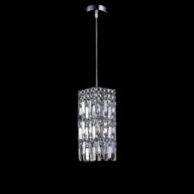 Pendente Moderno Com Cúpula Quadrada de Cristal Transparente 1 Lâmpada - JLR