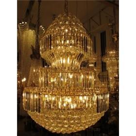 Lustre Imperial de Cristal Dourado 36 Lâmpadas - Frontier