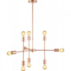 Pendente Moderno Estrutura em Aço Cobre Hash 9 Lampadas - Avant