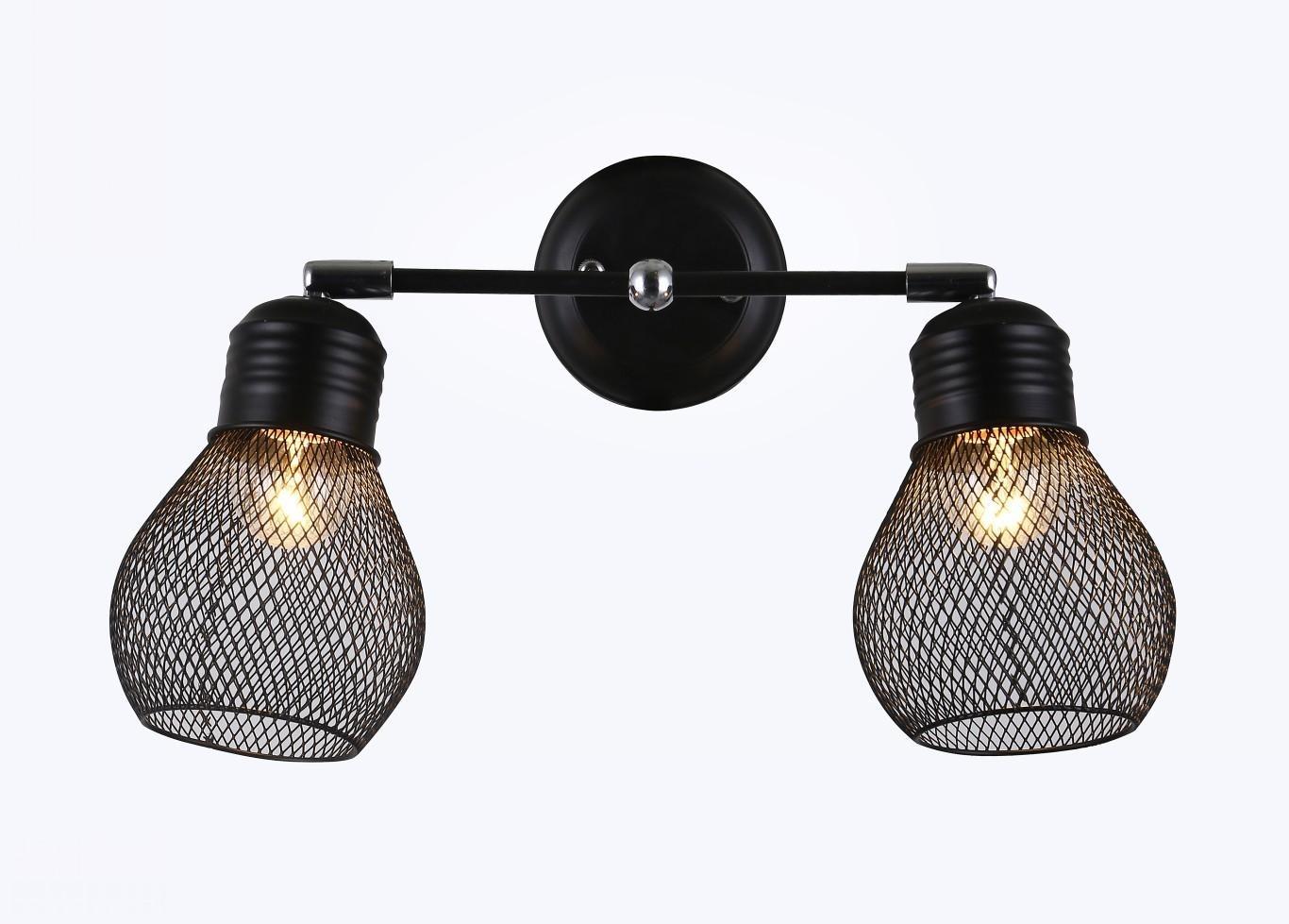 Pendente Metal Preto Cromado 2 Lâmpadas - Sindora
