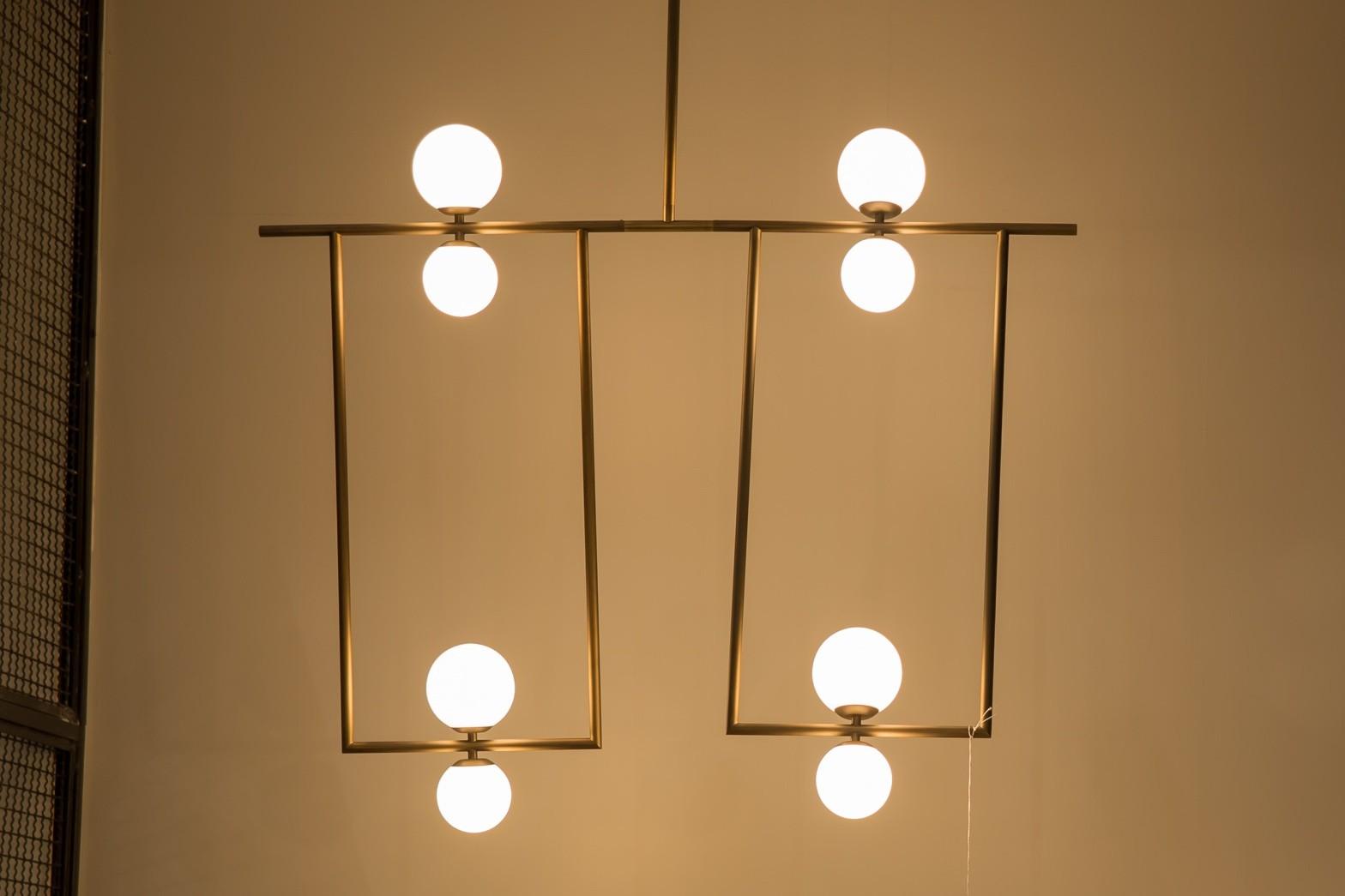 Pendente Balanço Sadalla Design 8 Lâmpada-GoldenArt