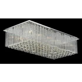 Plafon de Cristal Transparente 18 Lâmpadas Donatela Home Design Pier