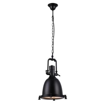 Pendente Kitchen Metal Preto Fosco 1 Lâmpada +Luz Iluminação