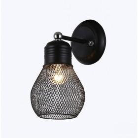 Arandela Metal Preto Cromado 1 Lâmpada - Sindora