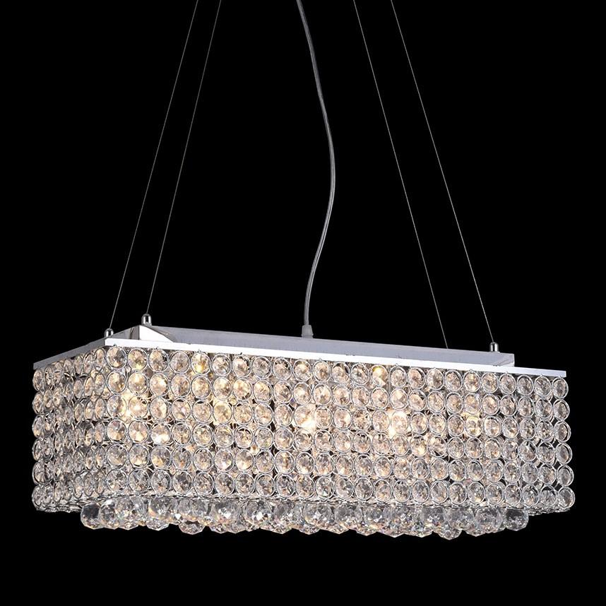 Pendente de Cristal Transparente 5 Lâmpadas CR
