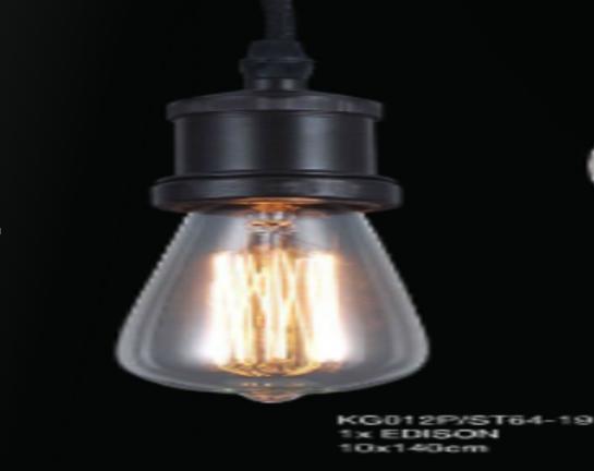 Pendente de Filamento Thomas Edison Retro Cone 1 Lâmpada 220v