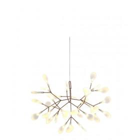 Pendente Twing Dourado Com Led Integrado +Luz Iluminação