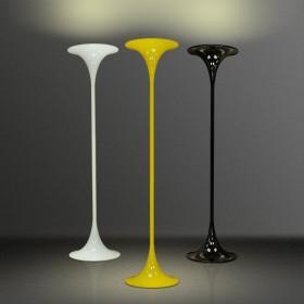 Luminária de Chão Mistt- A Cúpula Cone Amarela 1 Lâmpada Goldenart